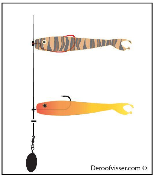 dropshot vissen twee shads