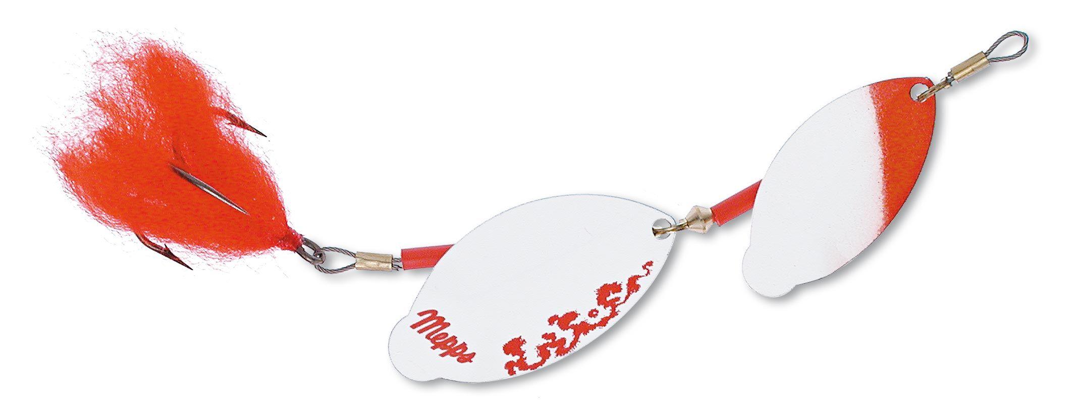 Mepps tandem brochet - 15 cm - wit/rood