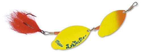 Mepps tandem brochet - 15 cm - oranje chartreuse