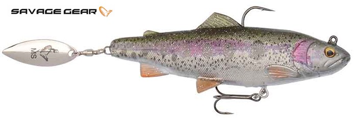 Savage Gear 4D Spin Shad Trout - 11 cm - rainbow
