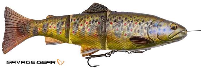 Savage Gear 4D line thru trout - 15 cm - dark brown trout