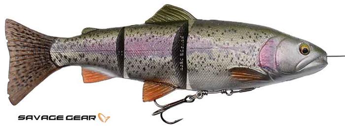 Savage Gear 4D line thru trout - 15 cm - rainbow