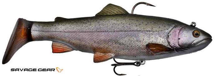 Savage Gear 4D trout rattle shad - 12.5 cm - rainbow