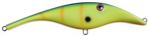 Zalt zinkend- 14 cm - yellow green stripe
