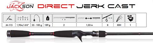 Jackson Direct Jerk Cast - 195cm - 35-100g