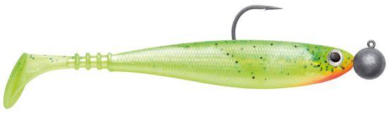 Jackson Zanderbait rigged - 12 cm - hot chartreuse