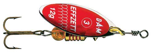 DAM Effzett predator - 7 cm - rood glitter