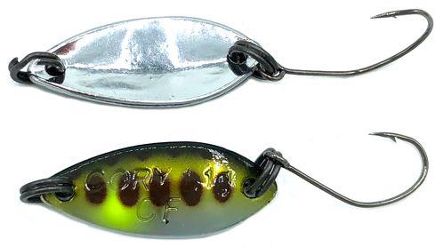 Crazy Fish Cory - 2 cm - baars zilver