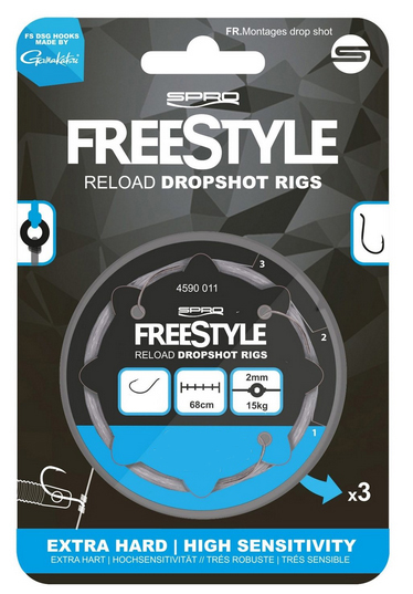 Spro Freestyle Reload Dropshot Rig 0.26 mm - haak 6