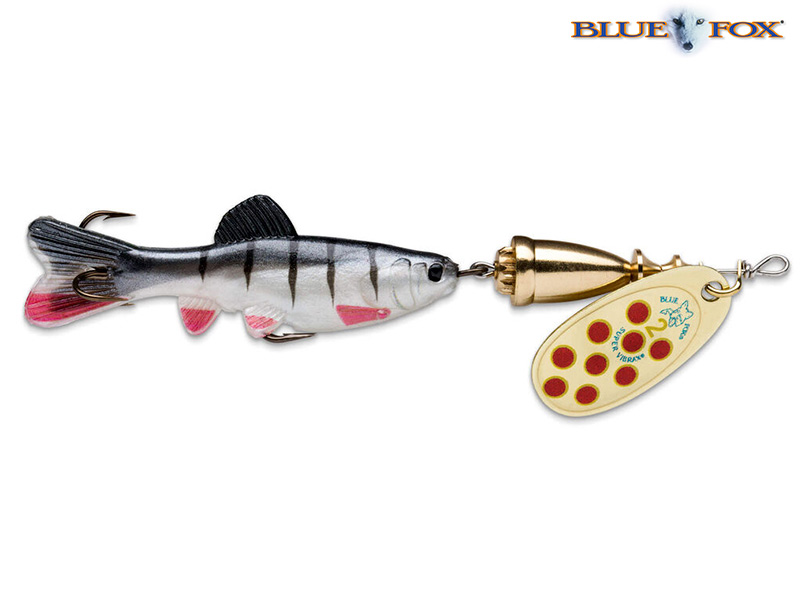 Blue Fox Vibrax Chaser - 11 cm - goud