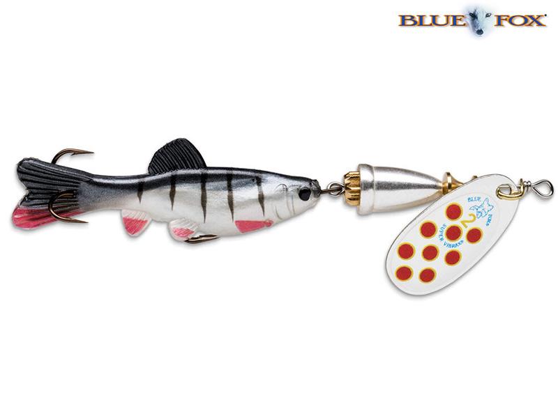 Blue Fox Vibrax Chaser - 11 cm - zilver