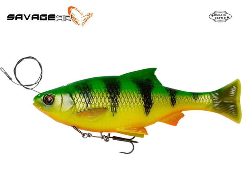 Savage Gear 4D Line Thru Pulse Tail Roach - 18 cm - firetiger