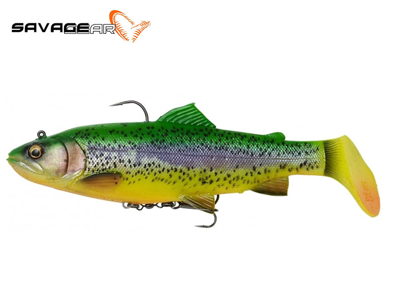 Savage Gear 4D trout rattle shad - 12.5 cm - fire trout