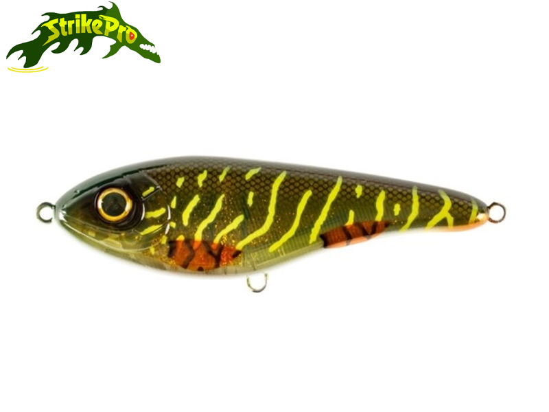 Strike Pro Buster Jerk Shallow - 15 cm - green motoroil pike UV