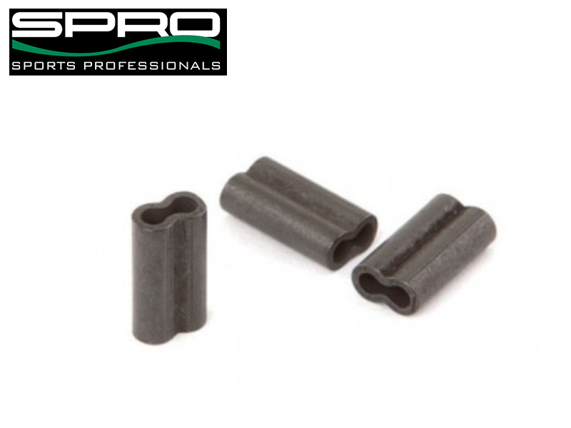 Spro Matt Black Double Brass Crimp - 0.8 x 1.7 x 8 mm