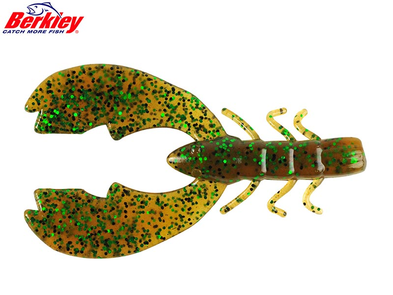 Berkley Powerbait Chigger Craw - 10 cm - pumpkin green fleck